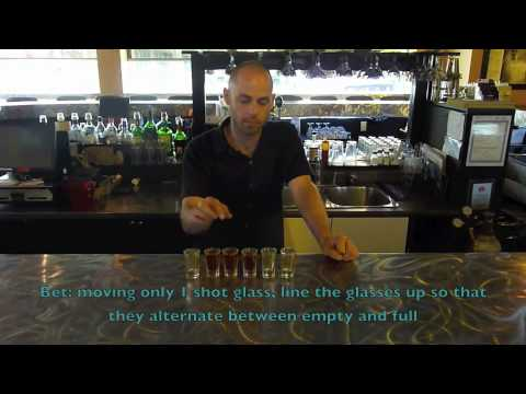 Alternating Shots Bar Trick