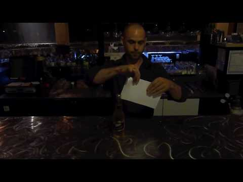 Bar Tricks Opening Beer With Paper