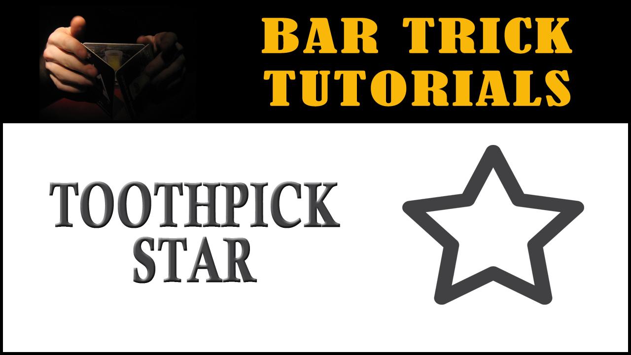Bar Tricks Toothpick Star