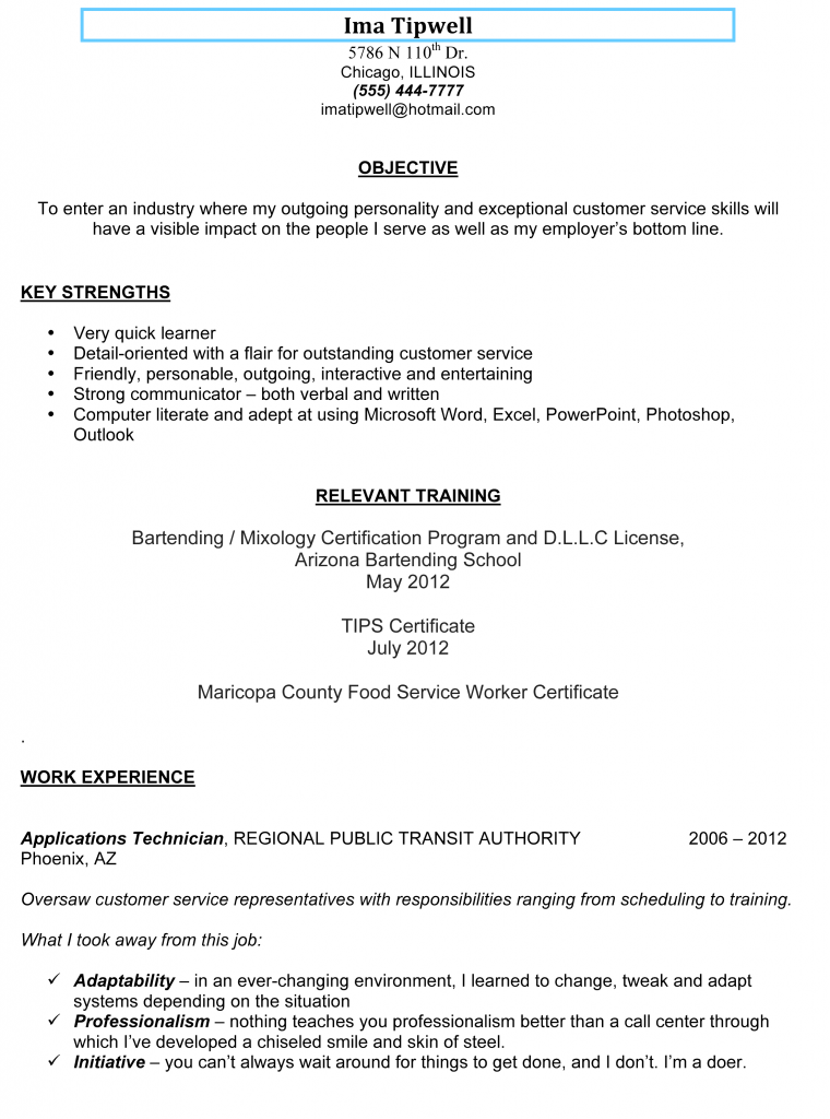 killer bartending resume sample you can copybars and bartendingbartending resume sample