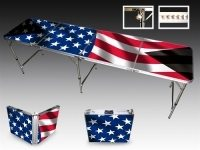 beer pong tables - american flag