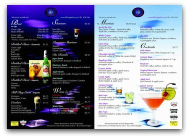 How to Run a Bar - Drink Menus