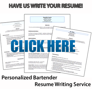 Crafting the Perfect Bartender Resume Samples and Tips