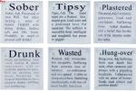 bar novelties - how drunk glass coaster set