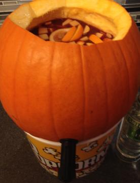 red wine sangria pumpkin