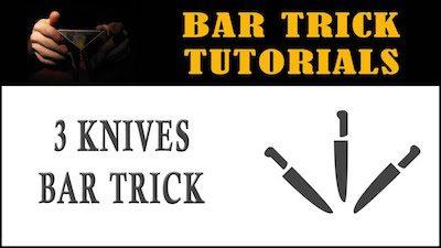 3 knives bar trick