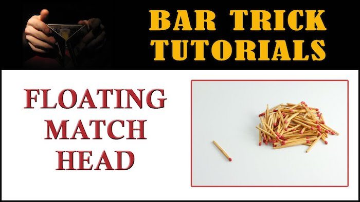 floating match heads bar trick