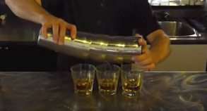 pouring multiple shots