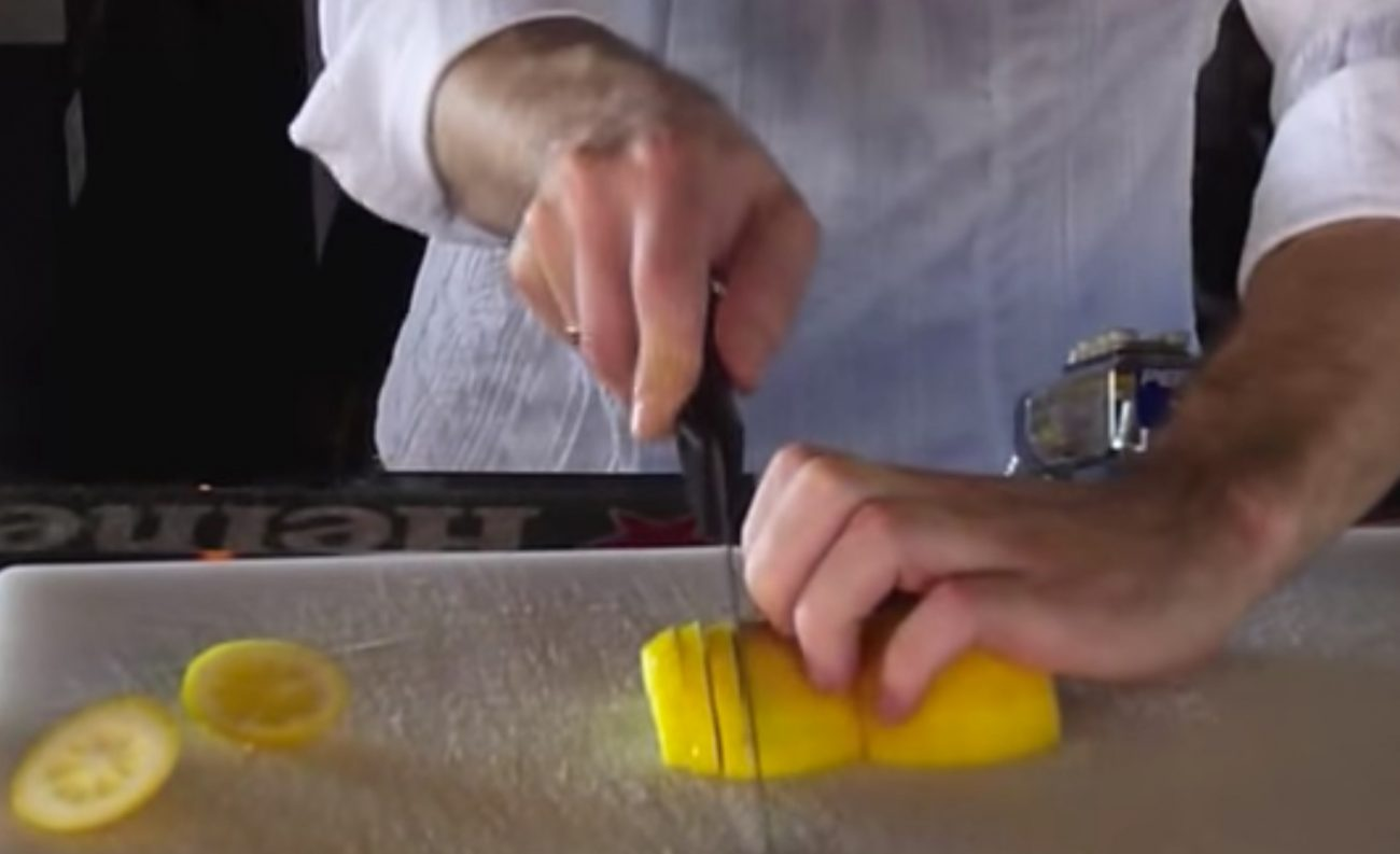 how to cut lemons for the bar