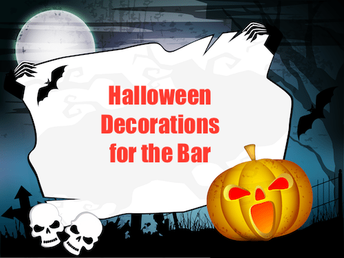 bar decorations for halloween