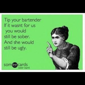 bar humor - tip bartender