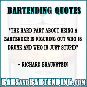 bartending quotes drunk n stupid