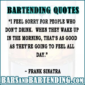 bar quotes sinatra on drinking