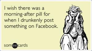 drunk FB posting